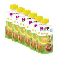 Pouches manzana pera y platano bio 6x100g Hipp - Imagen 1