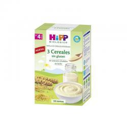 Papilla 3 cereales sin gluten bio 400g Hipp - Imagen 1