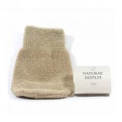 Esponja guante lino Naturae Donum - Imagen 1