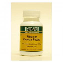 Fibra ciruela 600 mg 125 comprimidos GHF - Imagen 1