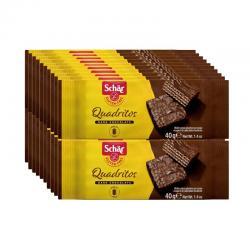 Quadritos barquillos de chocolate 20x40g Schar - Imagen 1