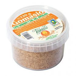 Gomasio con lino dorado y sal del himalaya bio tarrina de 120 g Vegetalia - Imagen 1