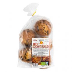 Magdalena gigante con chips de chocolate 375 g Vegetalia - Imagen 1