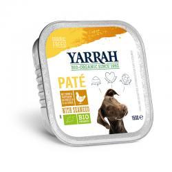 Pate para perros con pollo y algas tarrina bio 150g Yarrah - Imagen 1