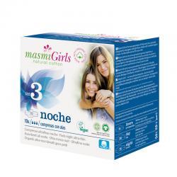 Compresas Girls Noche ultrafinas con alas 10ud Masmi - Imagen 1