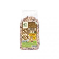 Muesli de avena, coco y chocolate sin gluten bio 425g Sol Natural - Imagen 1