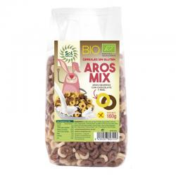 Cereales Aros mix choco-miel Sin gluten Bio 160g Sol Natural - Imagen 1