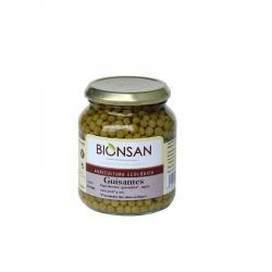 Guisantes bio tarro 350g Bionsan - Imagen 1