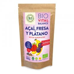 Vital Balance Acai Fresa Platano Bio 360g Sol Natural - Imagen 1