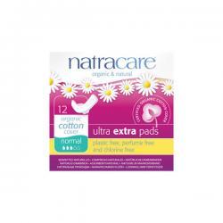 Compresa Ultra Extra Normal con Alas Bio 12 unidades Natracare - Imagen 1