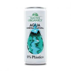 Agua Mineral 0% plastico 330ml Native Organics - Imagen 1