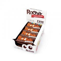 Barrita cacao y almendras bio 20x30g RooBaR - Imagen 1
