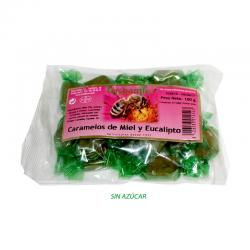 Caramelos Miel y Eucalipto sin azucar 100g Hispamiel - Imagen 1