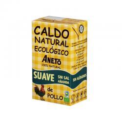 Caldo Suave de Pollo sin sal Bio 1L Aneto - Imagen 1