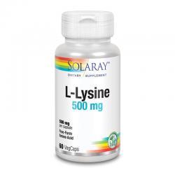 L-Lysine 500mg 60vcaps Solaray - Imagen 1