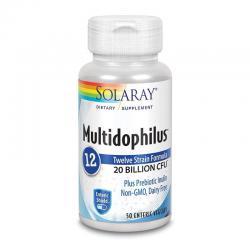 Multidophilus 12 (Protección enterica) 50vcaps Solaray - Imagen 1
