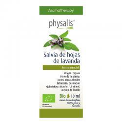 Aceite esencial de salvia de hojas de lavanda bio 10ml Physalis - Imagen 1