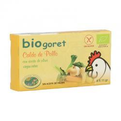 Caldo de pollo con verduras en cubitos bio 6x11g BioGoret - Imagen 1