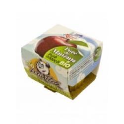 Pure de manzana bio 200 g La Finestra - Imagen 1