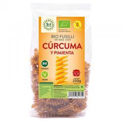 Fusilli de Maiz curcuma y pimienta s/gluten Bio 250g Sol Natural - Imagen 1