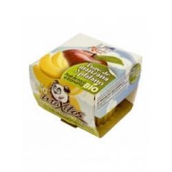 Pure de manzana y platano bio 200 g La Finestra - Imagen 1