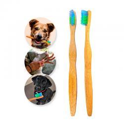 Cepillo de Dientes Bambu para Mascotas Woobamboo - Imagen 1