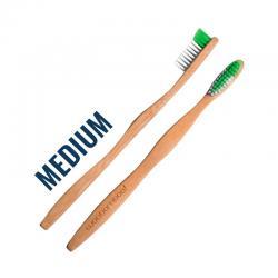 Cepillo de Dientes Bambu Adulto (Medio) Zero Waste Woobamboo - Imagen 1