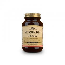 Vitamina B12 1000µg masticable 100 comprimidos Solgar - Imagen 1