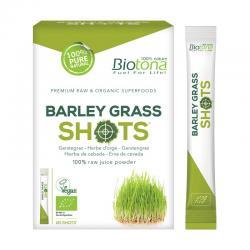 Barley grass raw (hierba de Cebada) Shots Bio 20x2,2g Biotona - Imagen 1