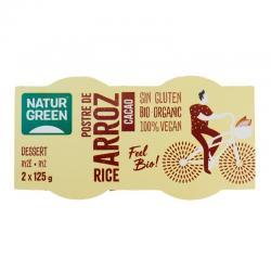Postre de arroz cacao Bio 2x125g Naturgreen - Imagen 1
