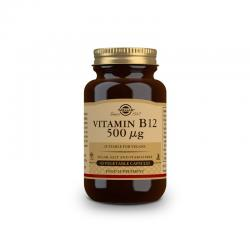 Vitamina B12 (cianocobalamina) 500µg 50vcaps Solgar - Imagen 1