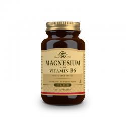 Magnesio con Vitamina B6 100 comprimidos Solgar - Imagen 1