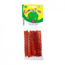 Trenza regaliz sabor fresa bio 75g Candy Tree - Imagen 1