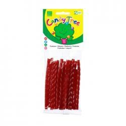 Trenza regaliz sabor frambuesa bio 75g Candy Tree - Imagen 1