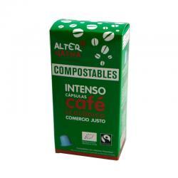 Cafe intenso capsula compostable 10x5g Alternativa 3 - Imagen 1