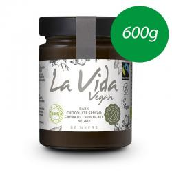 Crema de chocolate negro Bio 600g La Vida Vegan - Imagen 1