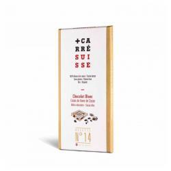 Tableta chocolate blanco & nibs de cacao Bio 100g Carre Suisse - Imagen 1