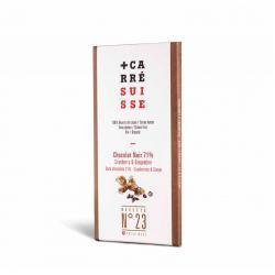Tableta chocolate negro 71% arandanos jengibre Bio 100g Carre Suisse - Imagen 1