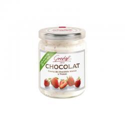 Crema de choco blanco y fresas Gourmet 250g Grashoff - Imagen 1