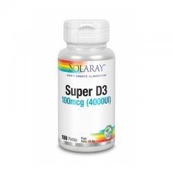 Super D3 4000UI 100 perlas Solaray - Imagen 1
