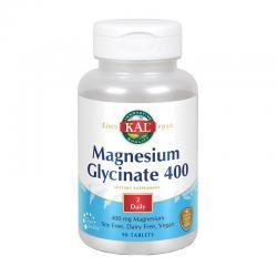 Glicinato de magnesio 400mg 90 comprimidos KAL - Imagen 1