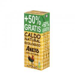 Caldo natural de Pollo Bio 1L+500ml Aneto - Imagen 1