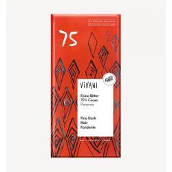 Chocolate negro 75% bio 80g Vivani - Imagen 1
