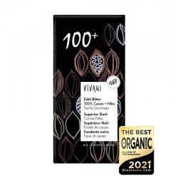 Chocolate negro 100% con nibs de cacao bio 80g Vivani - Imagen 1