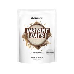 Harina de avena Instant Oats natural 1kg BioTechUSA - Imagen 1