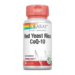 Red Yeast Rice Plus Q10 60 vcaps Solaray - Imagen 1